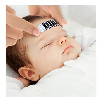 Free Shipping Child Kid Forehead Test Temperature Head Strip Thermometer Fever Body Baby 1 PCS(China (Mainland))