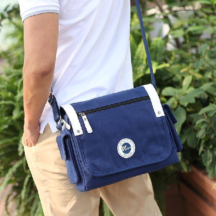 2015 New Fashion Casual Shoulder Bag Plaid Couples Sling Bag Funky Messenger Bag High Quality Canvas Men Messenger Bag Free Ship(China (Mainland))
