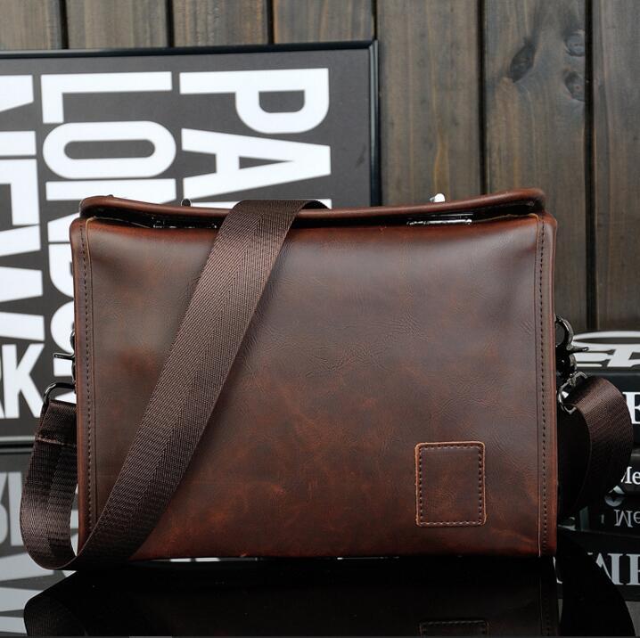 New 2016 Hot Sale Fashion Men Bags Men Famous Brand Design Leather Messenger Bag High Quality Men's Bag(China (Mainland))