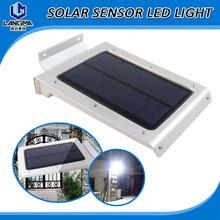 Solar Outdoor panel light  ip65 waterproof Garden courtyard street used motion sensor led wall light(China (Mainland))