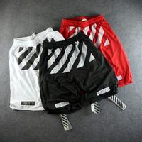 kanye west Off white virgil mesh shorts for men hip hop casual sports shorts urban clothing streetwear skateboard swag pyrex HBA