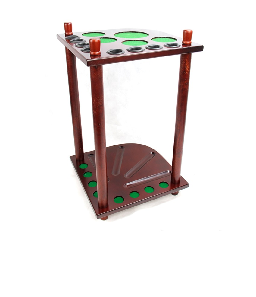 Mahogany finish WOODEN 8 CUE RACK STAND SNOOKER POOL TABLE BALLS REST STICKS, Billiard cue rest table, carom stick holder(China (Mainland))