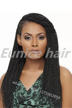 Synthetic Havana Mambo Crochet Twists Black Braided Hairstyles12roots/Piece Cheap Great Lengths Hair Extensions Free Shipping