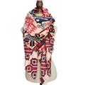 za New Big size Bohemia national trend winter scarf female rhombus geometry Fashion Scarf women