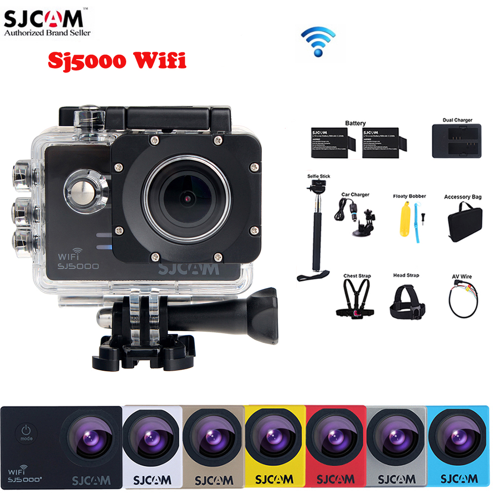 100% Original SJCAM SJ5000 WiFi Novatek96655 14MP Diving 30M Waterproof Mini Sports Action Camera Sj 5000 Wifi Cam DVR(China (Mainland))