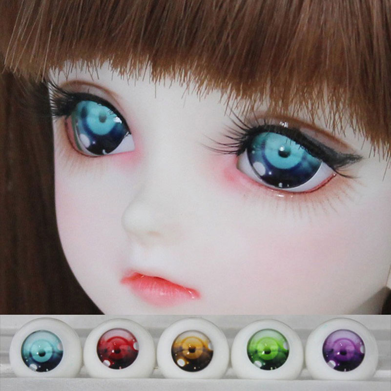 1 Pair BJD Safety Eyes Acrylic Toy Eyes for Dolls 1/3 1/4 1/6 14mm 16mm 18mm For Doll Accessories Toys For Children Girls Gifts(China (Mainland))