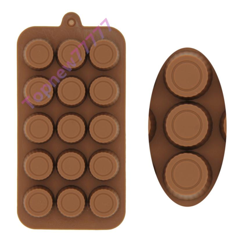 DIY Bottle Cap Shaped Small Baking Tray Candy Chocolate Silicone Mold Cake Mould Baking Tools Kitchen Supplies F2568(China (Mainland))