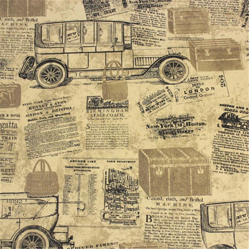 Vintage News Papers Cars Brown Vinyl Wallpaper roll papel de parede para sala self adhesive wallpaper papel parede papel contact(China (Mainland))