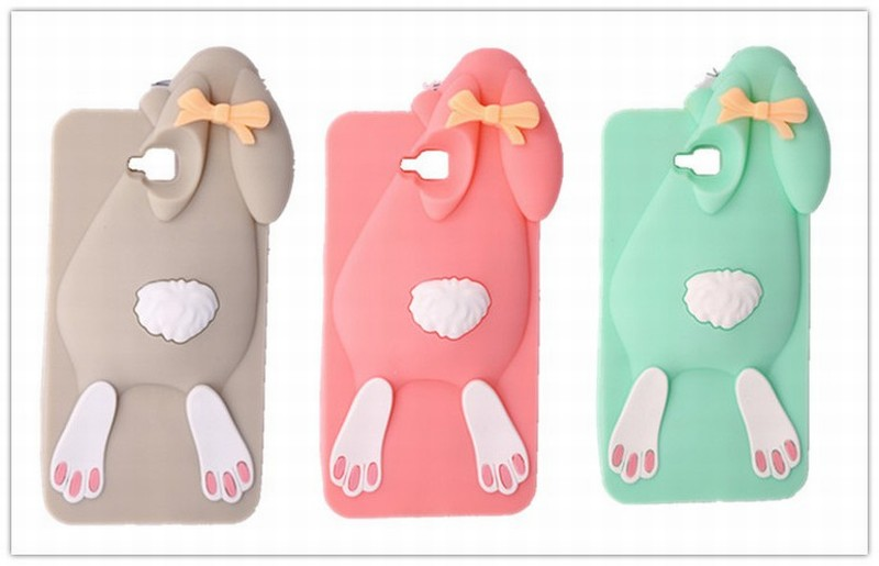 Phone Case LG PRO LITE D680 D682 D686 3D Cartoon Buck-Toothed Rabbit Pattern 3 Colors Soft Silicone Mobile Back Cover - All the Best Things store