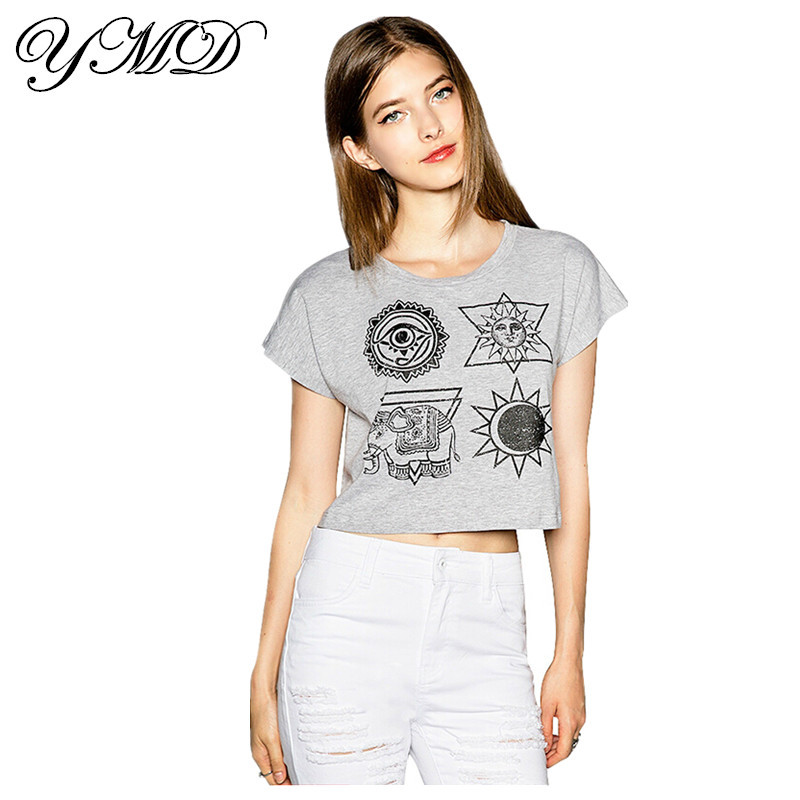 2015 spring and summer street printing women shirts gray for Best t shirts for summer