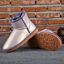 Mujeres de Breif nieve del cuero genuino botas botas botas de algodón femeninos de piel botas de mujer pisos de invierno impermeables botas de nieve zapatos(China (Mainland))