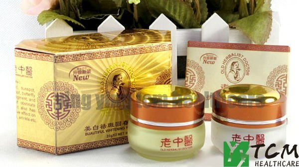 Hot Upgrade New package Chinese Mecidine Whitening Anti Freckle Skin Cream 2pcs/set day cream+night cream face whitening cream