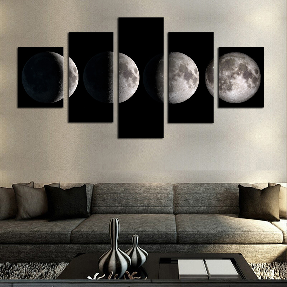 Wall Art Painting With Frame : Popular eclipses pictures buy cheap lots