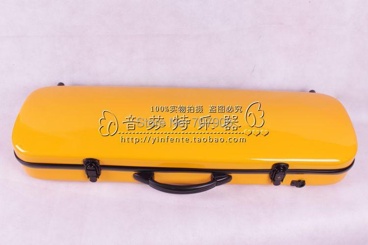yellow  color    4/4 Violin case Glass Fiber Soft Imitate Leather Pink White Black #001<br><br>Aliexpress