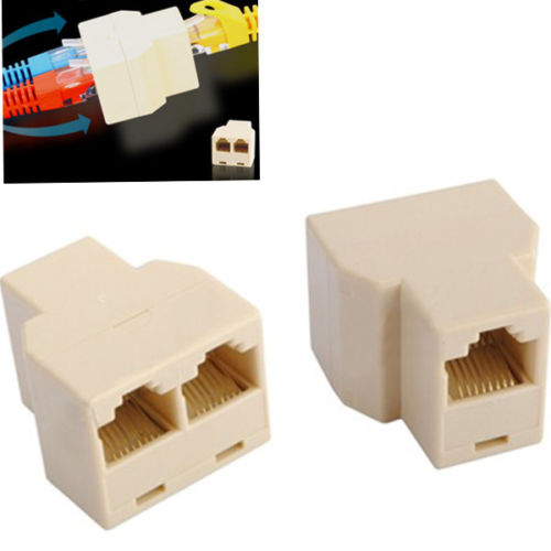 new 3 Sockets RJ45 6 LAN Ethernet Splitter Adapter Internet Connector Cable A9-004(China (Mainland))