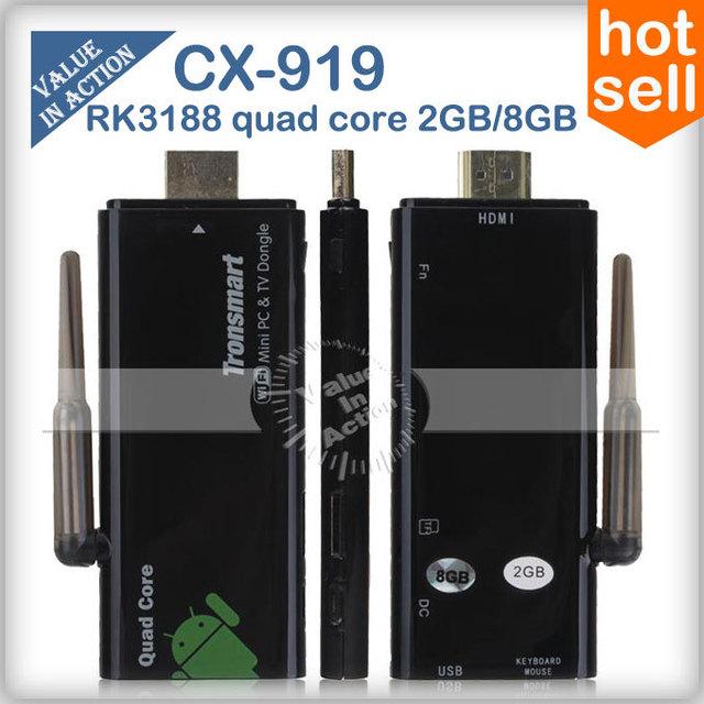 External Wifi Atenna Tronsmart CX-919 2GB RAM RK3188 Quad Core Mni PC Android TV Stick Dongle Box Bluetooth HDMI