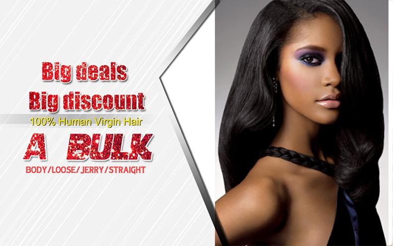 FREE shipping 7A grade human braiding hair bulk Virgin Malaysian Body Wave Brazilian Hair Weave Bundles hair Wholesale Human