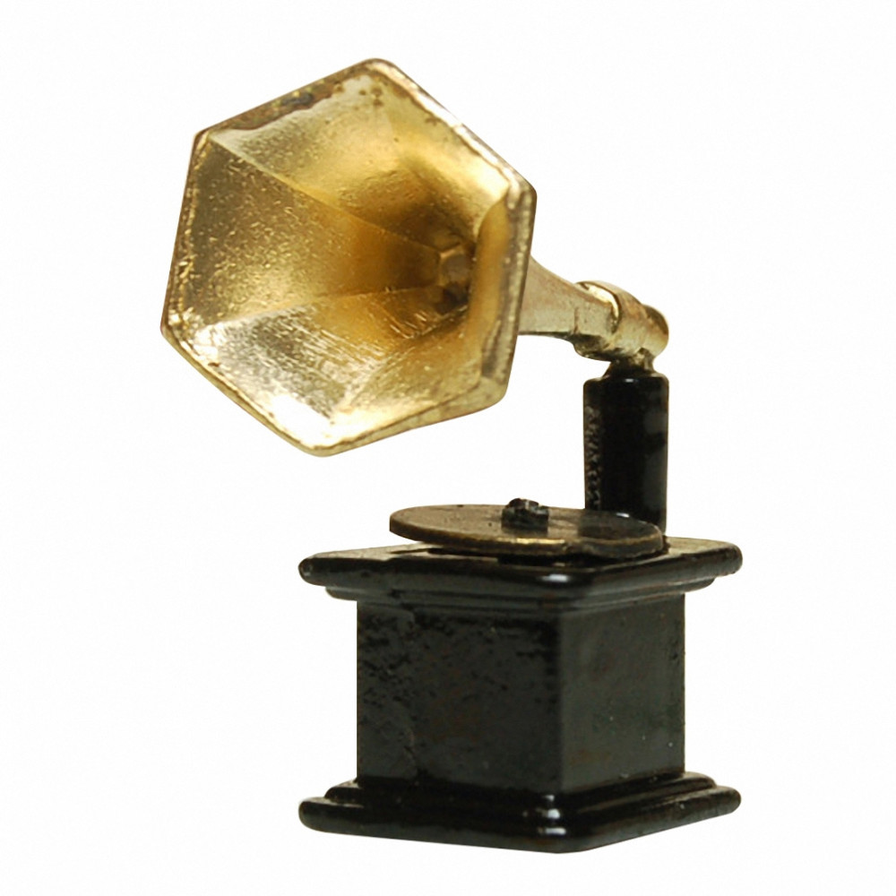 New Arrival Classic Dollhouse vintage Miniature Metal Gramophone Furniture Accessories Toys for Doll House(China (Mainland))