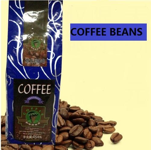 Discount Espresso Italian Sugar free Coffee Beans 454g cooked Coffee Powder DarkRoasted Edelbrau Coffee shu Beans
