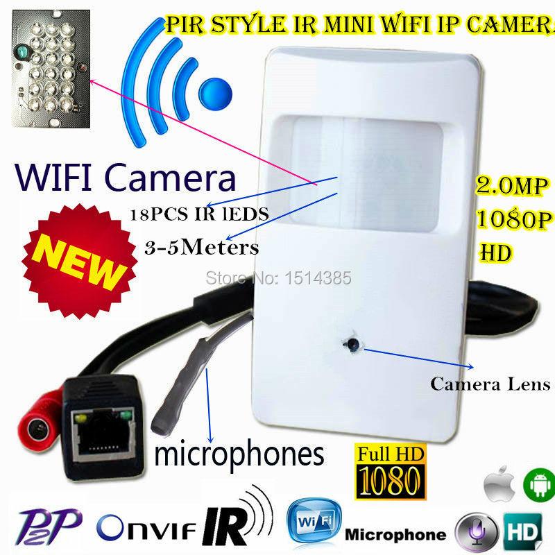 Mini Ip Camera Hd Audio Night Vision 1080P Pir Motion Detector Pinhole Camera Wifi Ip Camera Covert PIR IP Wireless Wifi Camera(China (Mainland))