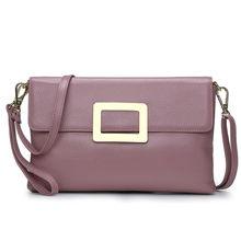 HMILY bolso de mensajero de moda para mujer bolso de mano de cuero auténtico para mujer(China)