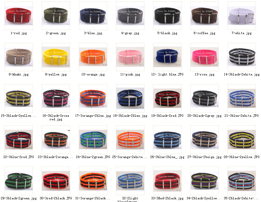 New arrival 86color available 22MM High quality Nylon Watch band NATO waterproof watch strap fashion wach