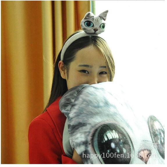Stylish Women Girls 3D Cat Ear Headband Hairband Sexy Head Band Self Photo Prop Hair Band Accessories(China (Mainland))