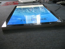 Single Sided Counter Top A2 Aluminium Frame Magnetic Fraont Led Panel, Snap Led light Boxes(China (Mainland))