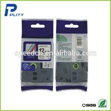 Compatible tz tape 12mm laminated black on white tze 231 tz231 tz 231 for label maker machine