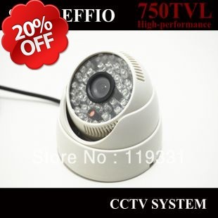 Free Shipping SONY EFFIO 750TVL 36 IR LED Dome Indoor CCTV Camera,Infrared Camera