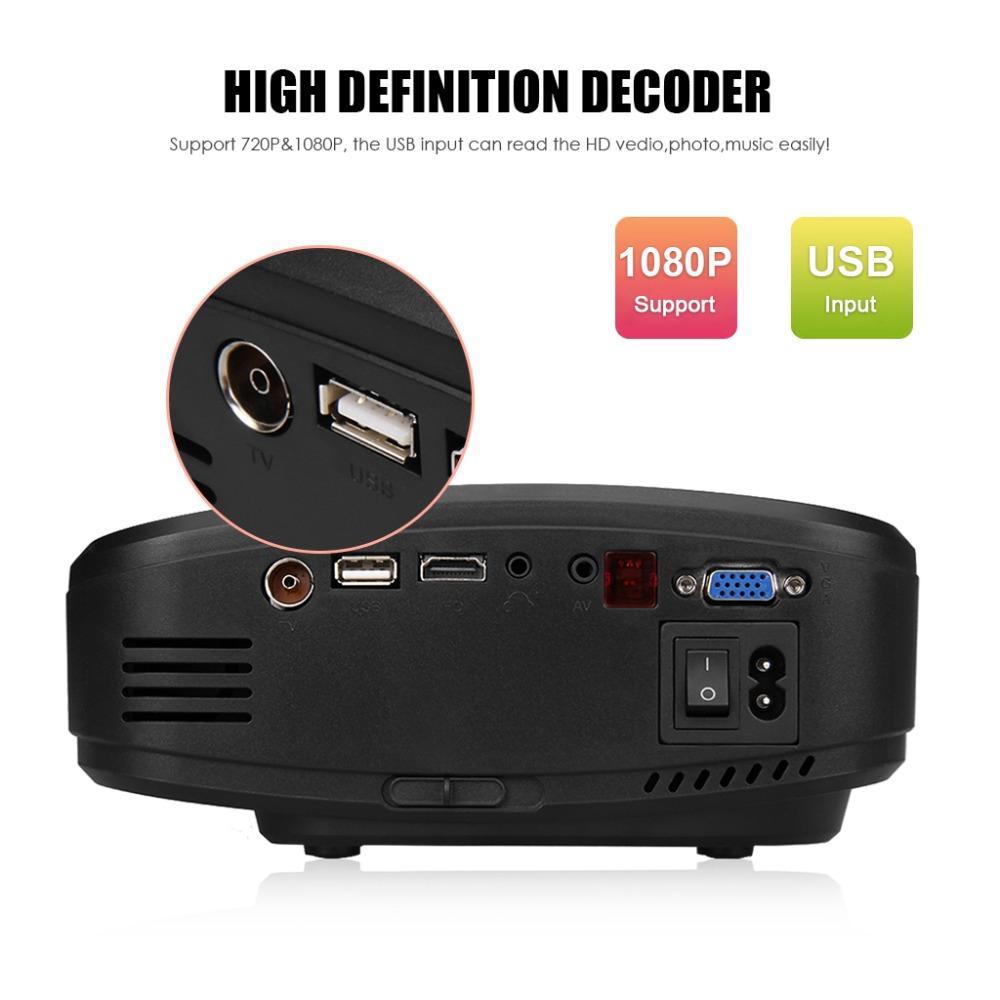 Lcd Projector Pc Av Tv Vga Usb Hdmi Hd 1080p Home Theater: CHEERLUX C6 Mini LED&LCD Projector 800x480 Pixels 1200