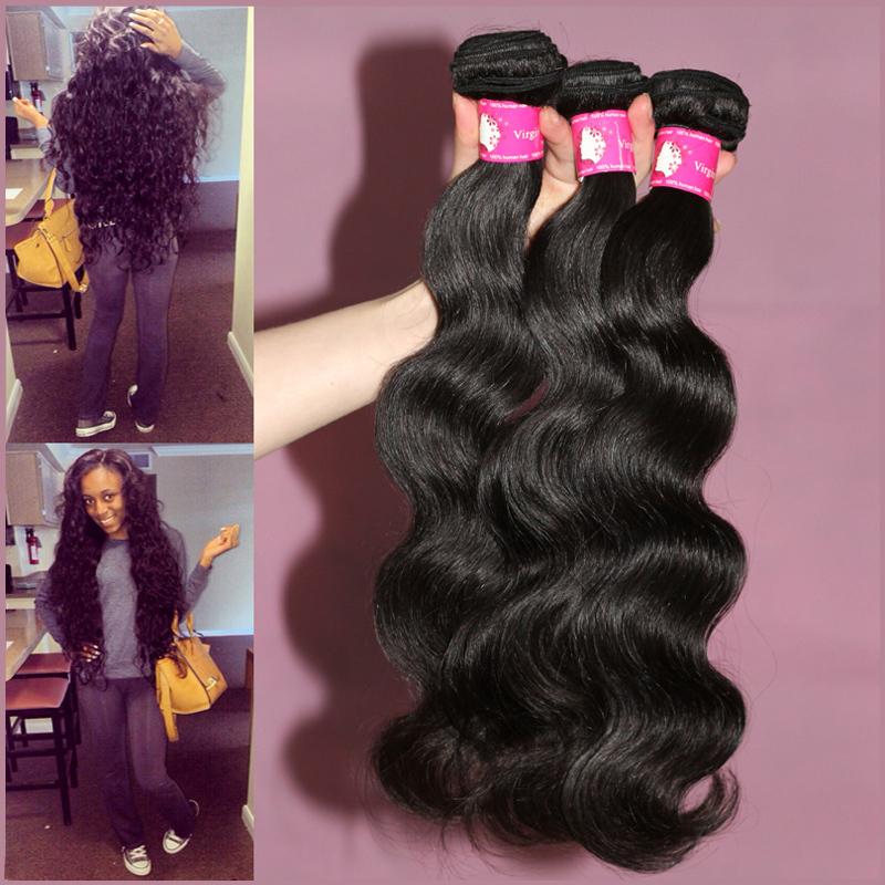 Wholesale Price Virgin Brazilian Body Wave Human Hair Weaves , 3 Bundles lot Brazilian Virgin Hair , Unprocessed Remy Hair Weft(China (Mainland))