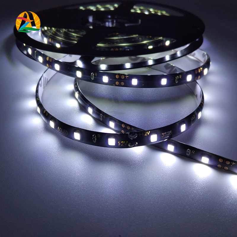Black Waterproof 3528SMD Car Motorbike RGB LED strips Home and Garden Lights 300leds per Roll 12V RGB 60LEDs/M Color LED Rope(China (Mainland))
