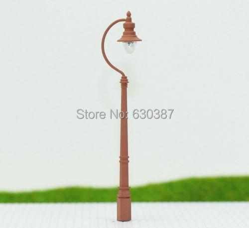 LQS04 5pcs Model Railway Train Antique Lamp Post Street Light HO OO TT Scale NEW(China (Mainland))