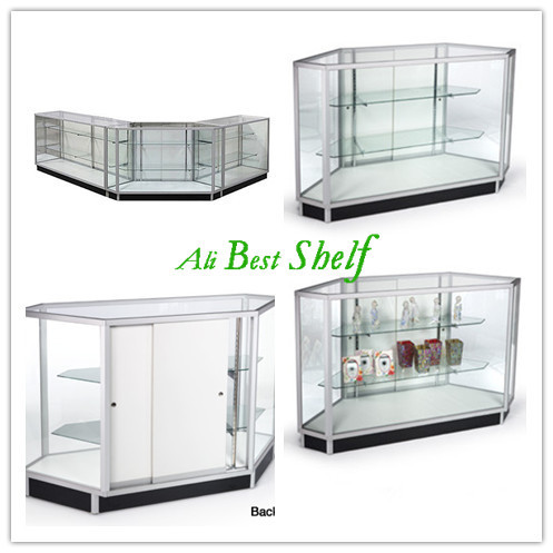 Aluminum glass counter display showcase in shop(China (Mainland))