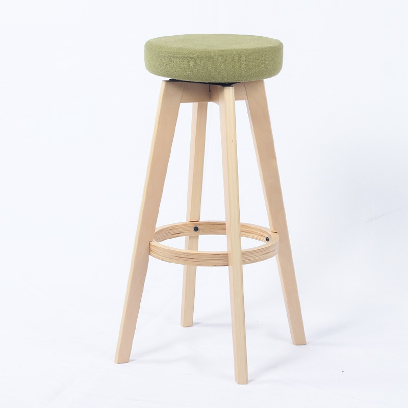 ECDAILY Ji Tasi American fashion chair bar chairs solid wood bar stool bar stool can be rotated home FREE SHIPPING(China (Mainland))