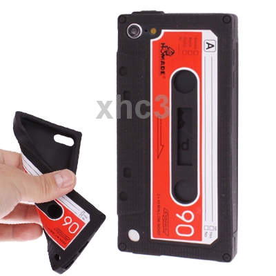Tape Shape Silicon Case for iPod touch 5 Black Soft Cover Protective Shell Skin(China (Mainland))