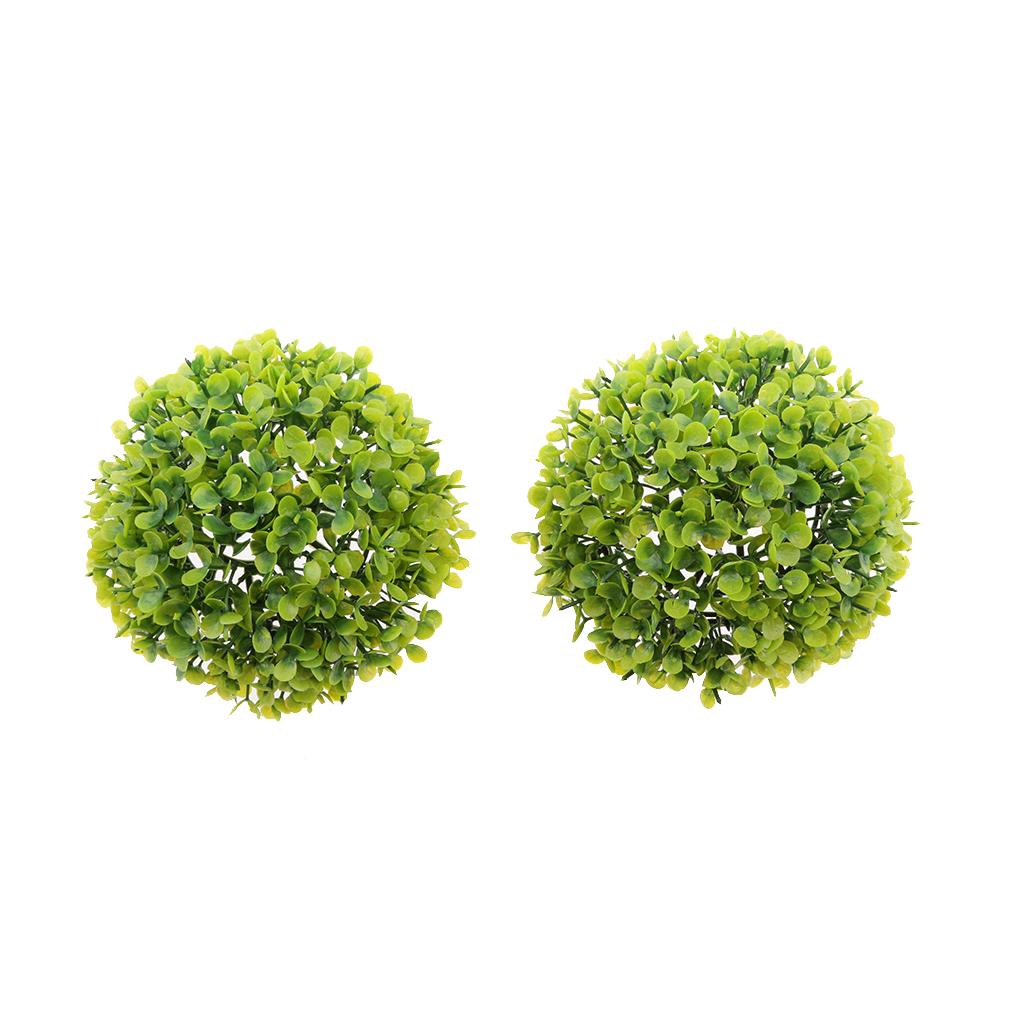 1pc 17cm Artificial Topiary House Plants Ball Pool Patio Garden Porch Green