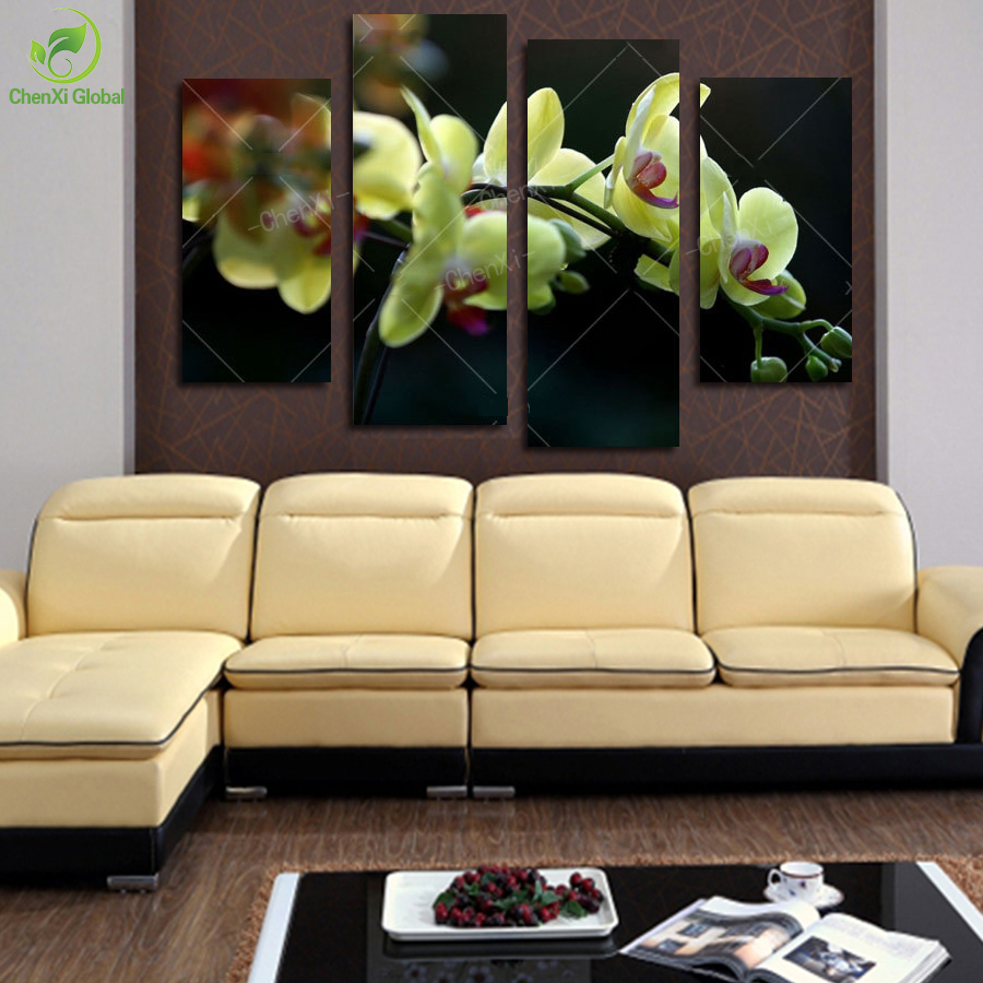 Online kopen Wholesale framed painting yellow flowers uit China ...