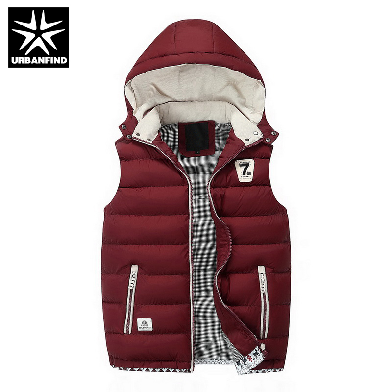 URBANFIND Brand Men Casual Cotton Vest Coats Large Size L-3XL Autumn Winter Clothing Man Hooded Waistcoat(China (Mainland))