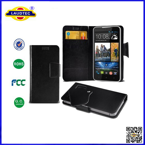 200pcs/lot for htc desire 516 wallet leather stand cover flip case laudtec(China (Mainland))