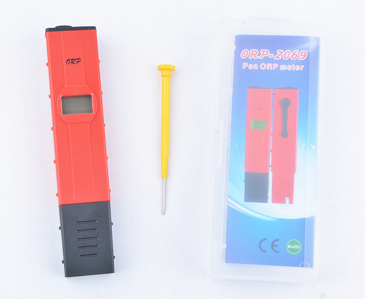 Hot sold LCD Digital new type red pen ORP ph tester water quantity pool tester ORP meter(China (Mainland))