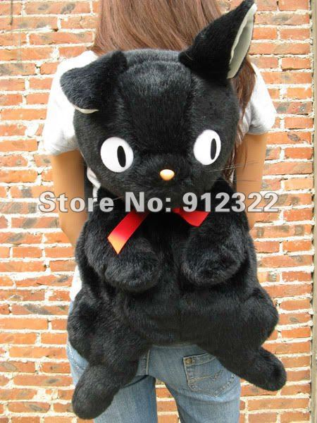 "Free Shipping KIKI'S DELIVERY SERVICE JIJI CAT SOFT PLUSH BAG 25"",NEW Wholesale and Retail(China (Mainland))"