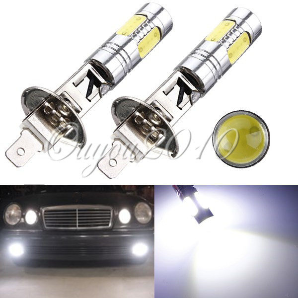High Quality High Power H1 7.5W LED Car Vehicle Auto DRL COB Fog Running Headlight Head Lights Lamp Bulb DC12V White(China (Mainland))