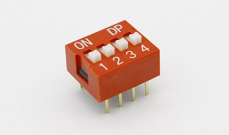 IMC Hot 10 Pcs 2 Row 8 Pin 4P Positions 2.54mm Pitch DIP Switch Red