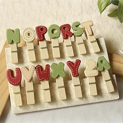 28 stuks lot houten clip vintage woord letter paperclips foto memo klem krijtbord schoolbord - Kantoor houten school ...