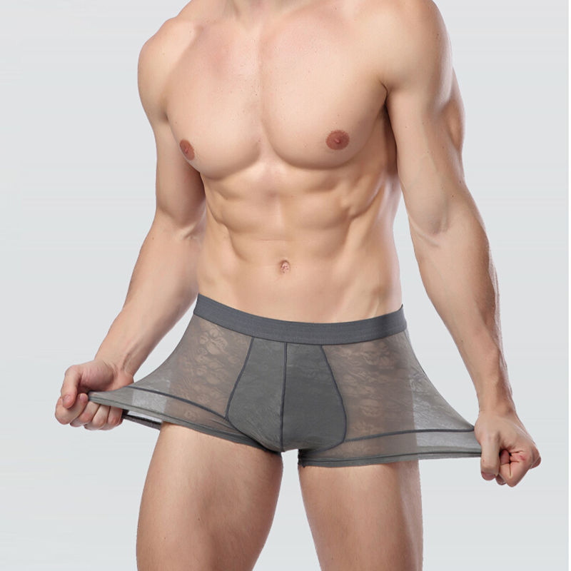 Man s Underpants Male Panties Thin Bamboo Charcoal Fiber Calzoncillos Breathable Sexy Plus Size L XL
