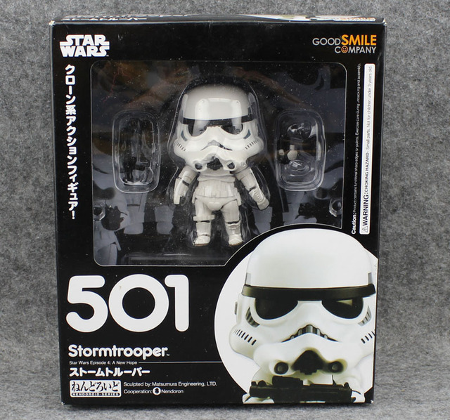 4″ Nendoroid Star Wars Stormtrooper and Darth Vader Boxed PVC Action Figure
