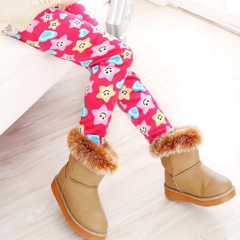 Winter Girls Leggings Super Thicken Warm Girl Pants Kids Pants Elastic Waist Legging Children Clothing Pants 2-10 Years Old(China (Mainland))