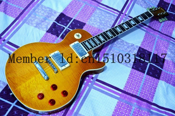 Jimmy Page Number Two Signature Electric Guitar, One PC Neck, Figured Maple Top, High Quality LP Electric(China (Mainland))